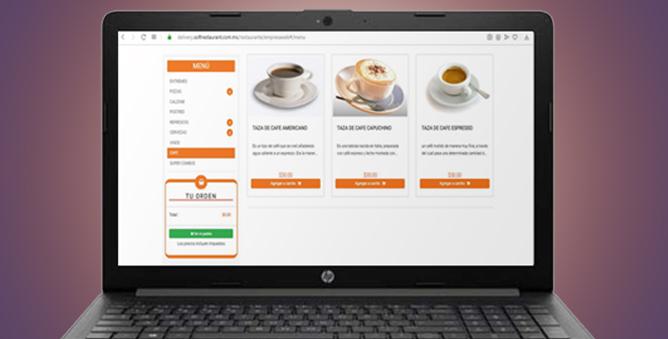 platform to receive and send food orders online