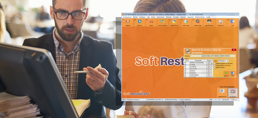 Use of soft restaurant to generate the cost of recipes in a restaurant
